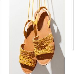 Luna crochet sling back sandal mustard 8